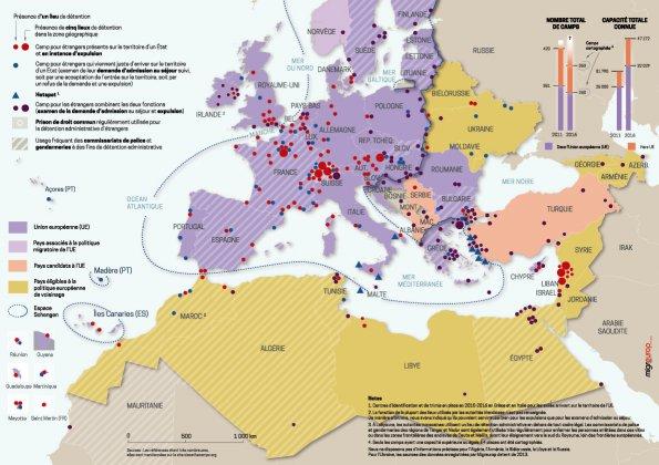 Carte des camps 2016 Migreurop