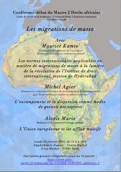 Affiche Conférence migrations de masse