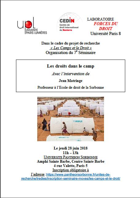 Séminaire camps 28 juin 2018